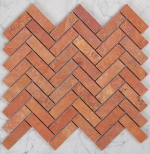 145 Rosa travertine Herringbone