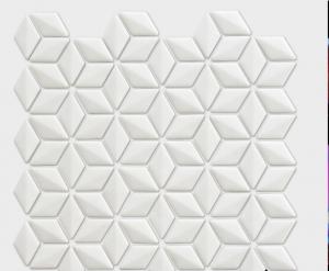 VM977 White Rhombus Mosaic